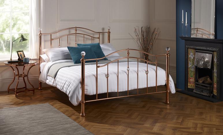 Mumbai Rose Gold Metal Bed Frame Sensation Sleep Beds