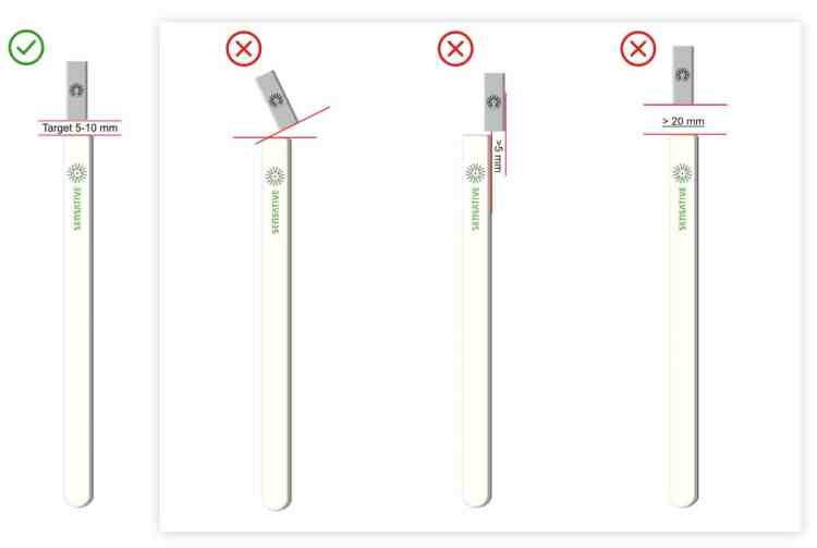 Sensative strips guard sensor and magnet alignment small gap