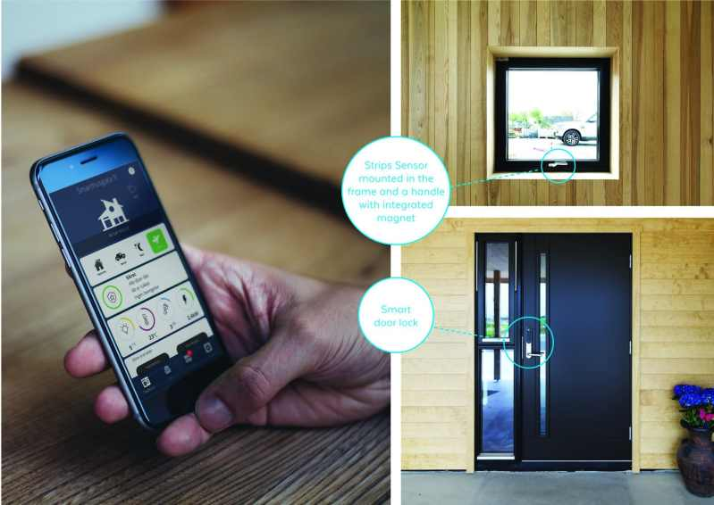 Gilje Sense windows with integrated IoT by Sensative overview