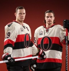 Image result for senators OF alternate and heritage classic jerseys