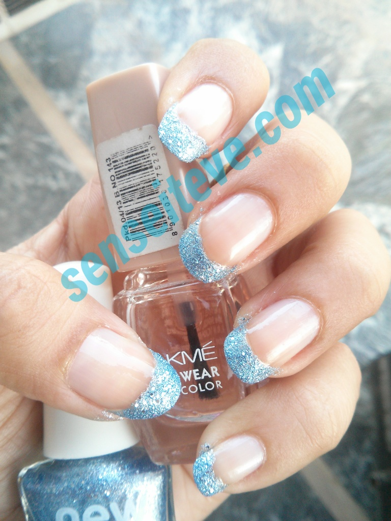 Modified french manicure Blue Moon