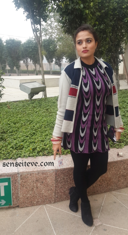 OOTD Woolen Tunic with jacket