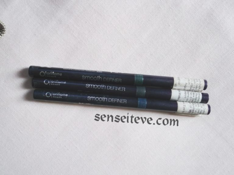Oriflame Beauty Smooth Definer Swatches & Review_Grey, Blue & Green