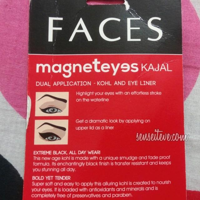Faces Magneteyes Kajal_Product Description and more