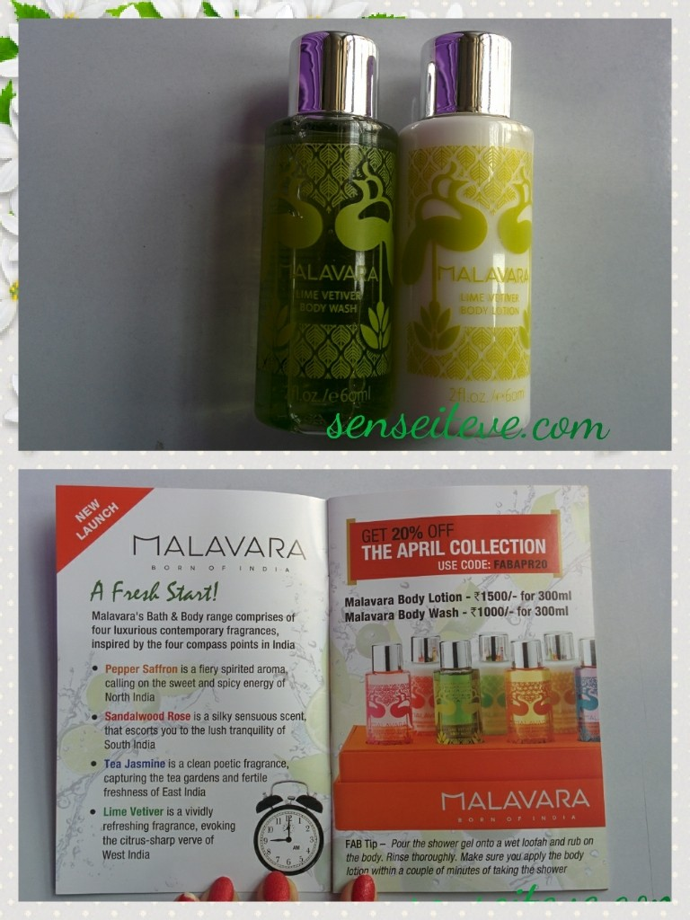 In my Fabbag April 2015_Malavara lime vetiver Shower gel- body lotion duo