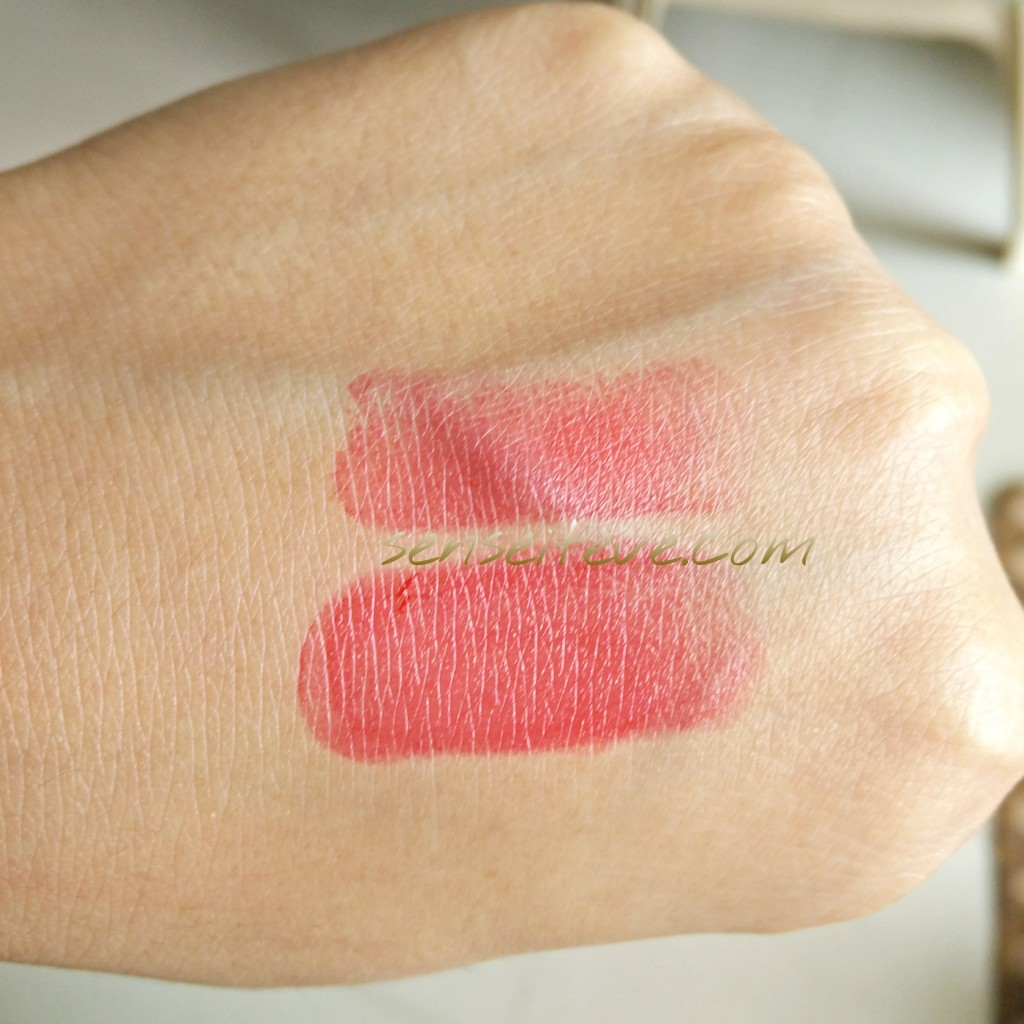 In my Fabbag july 2015-bellapierre mineral lipstick swatch