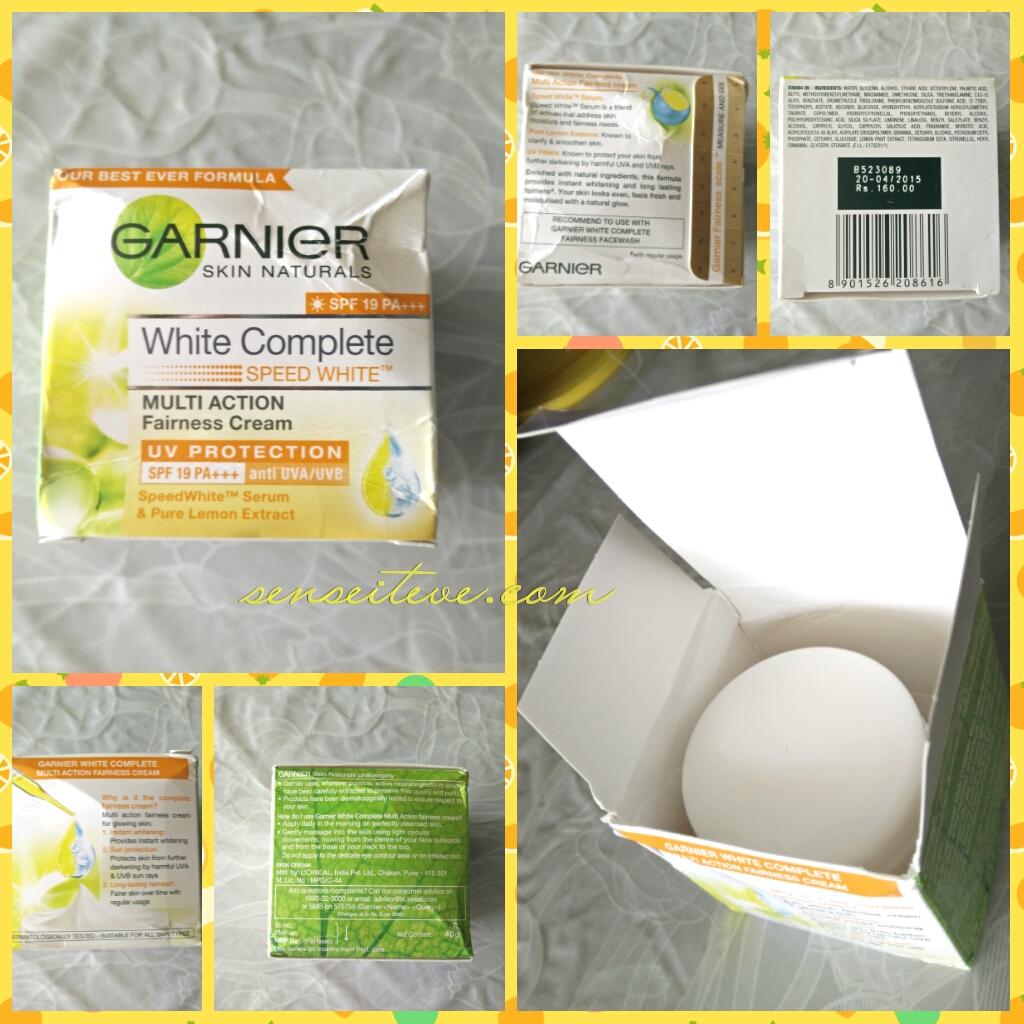 Garnier White Complete Multi-action Fairness Cream_Speed White
