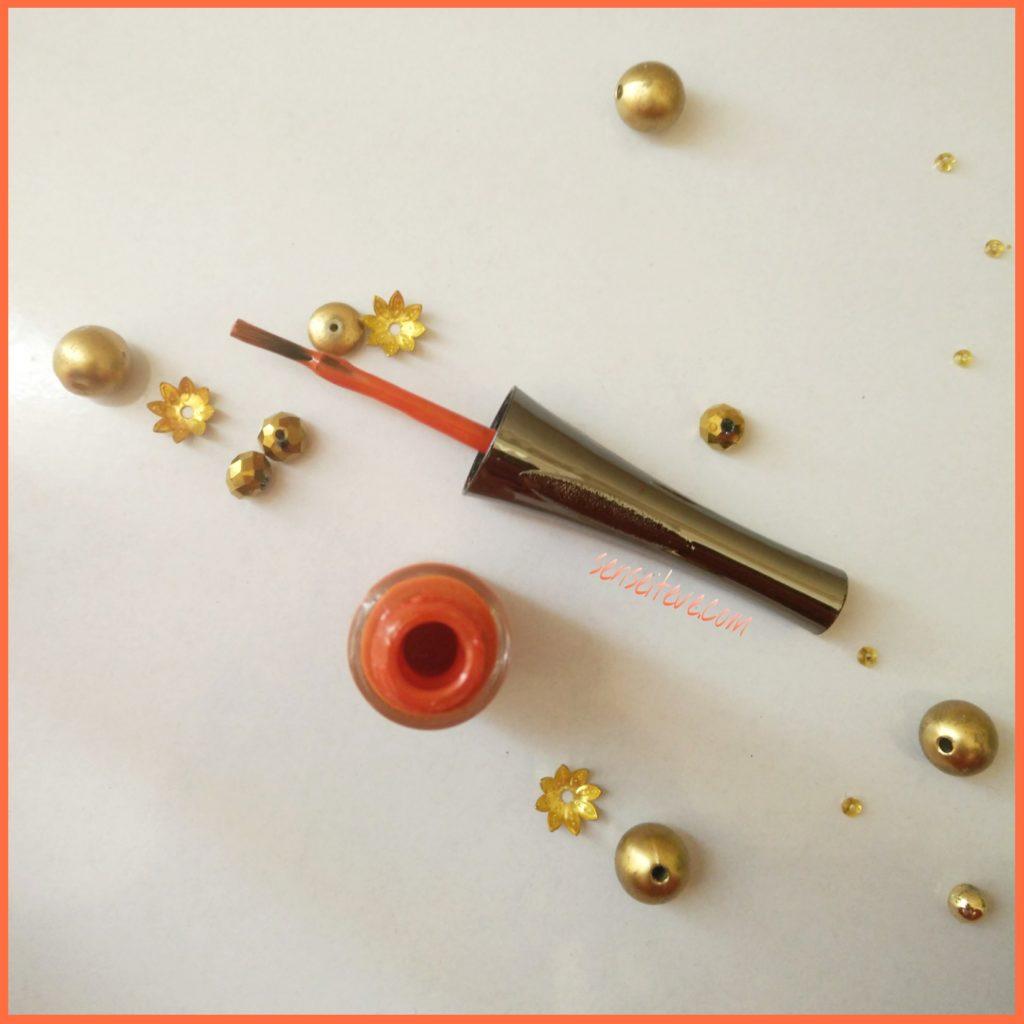 Lotus Herbals Color Dew Nail Enamel Orange Alert 1