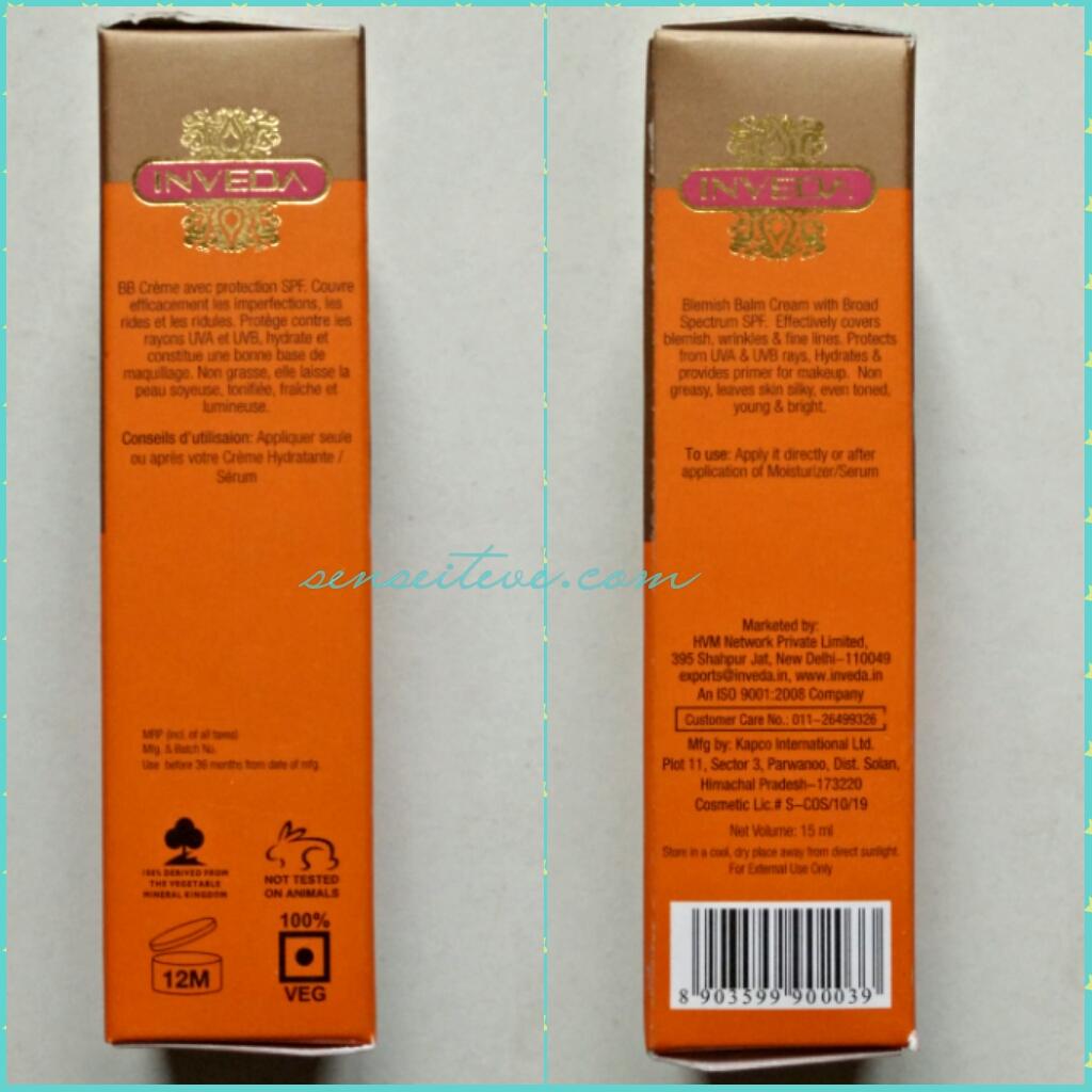 Inveda 8 in 1 BB Cream Information