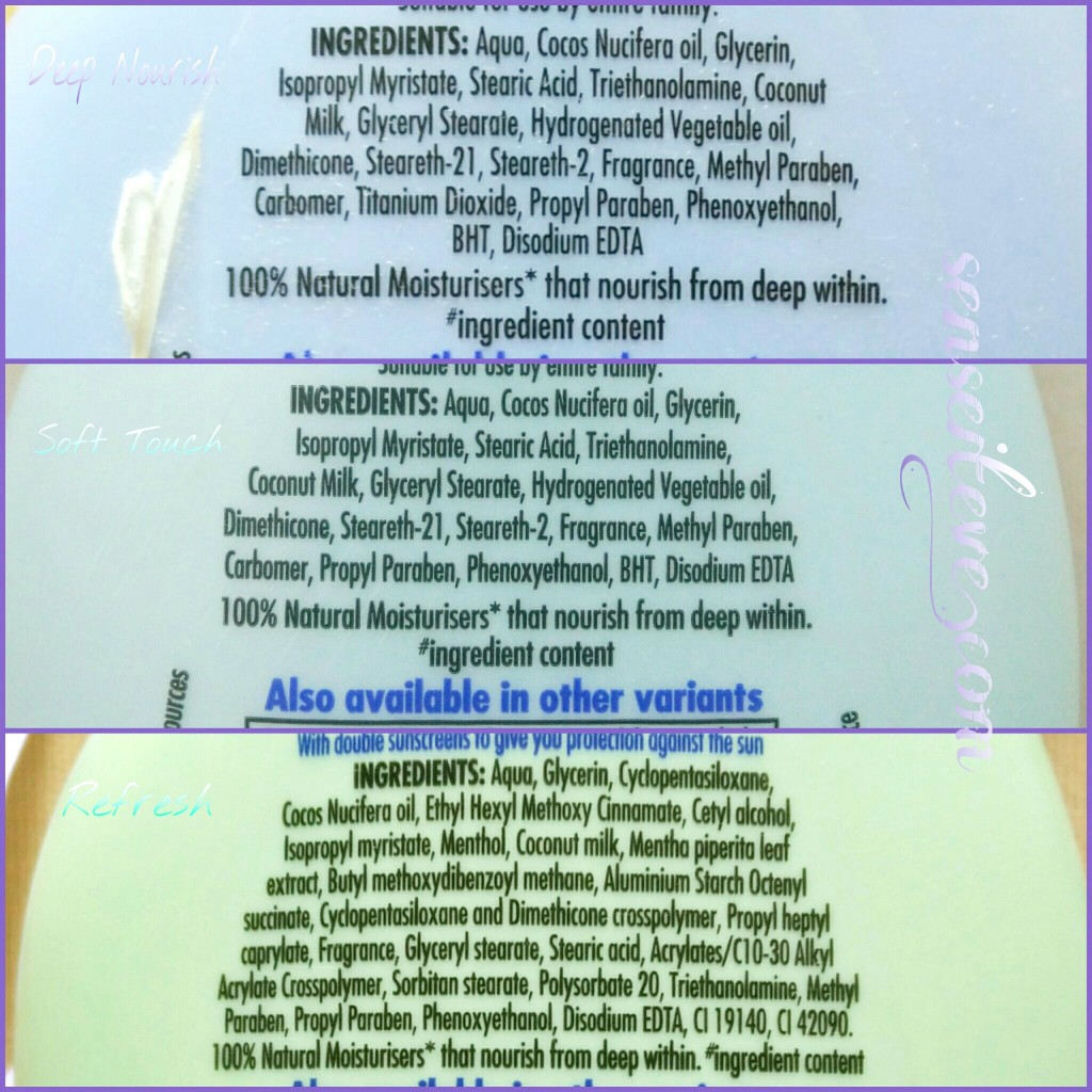 Parachute Advansed Body Lotions Ingredients