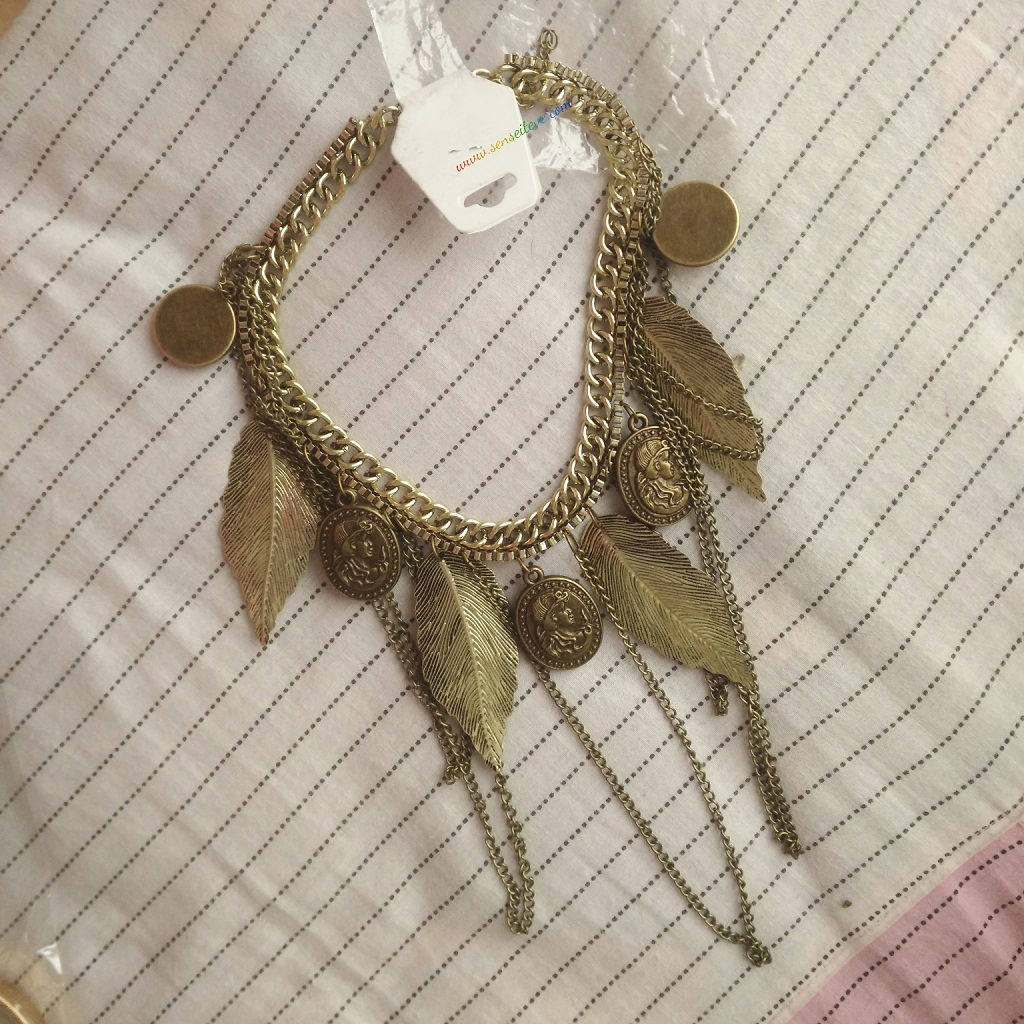 Leaf Purl Vintage Necklace