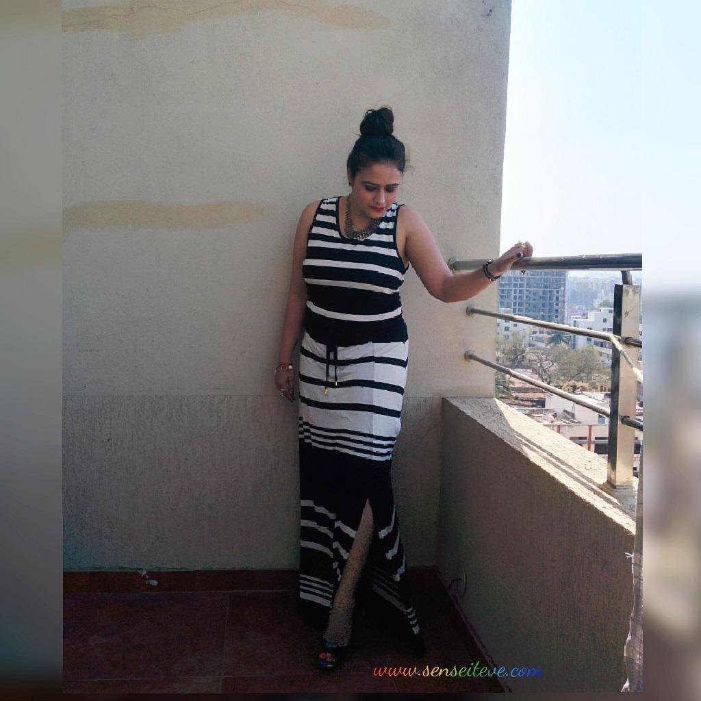 OOTD Monochrome Stripes Dress