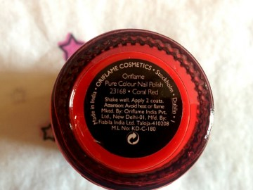 Oriflame Pure Colour Nail Polish 23168 Coral Red