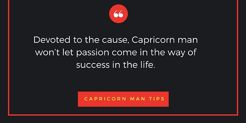 What does capricorn man likes?