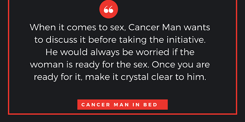 Pleasing a cancer man