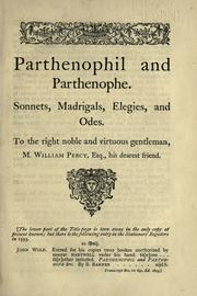 Title page of Barnabe Barnes' Parthenophil and Parthenophe