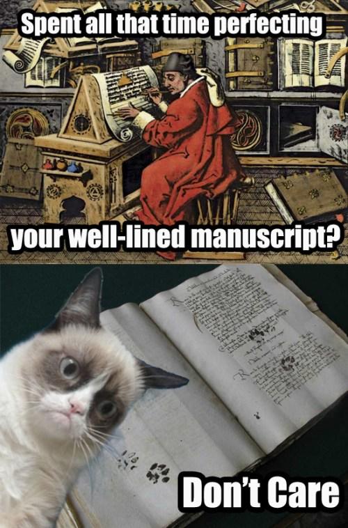 Grumpy Cat Don't Care About Your Manuscript
