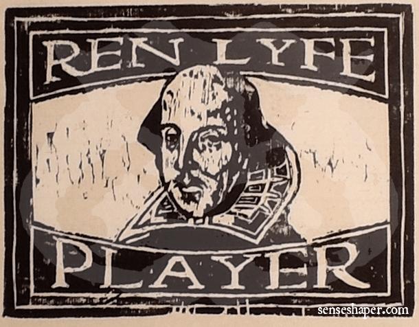 Senseshaper-RenLyfe-Woodcut-Shakespeare-Player-Print
