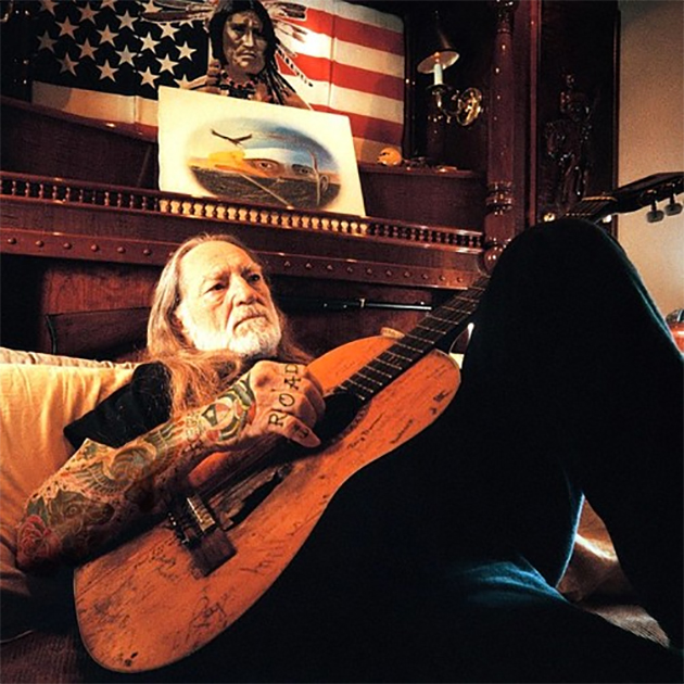 willie nelson with tattoos