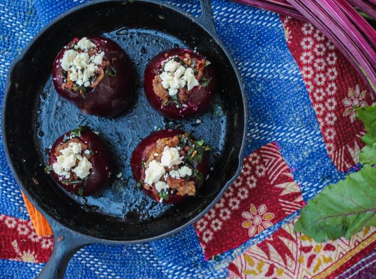 Stuffed Beets with Gorgonzola Dressing