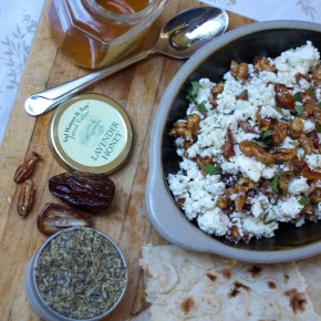 Feta Dip with Dates and Honey Candied Walnuts