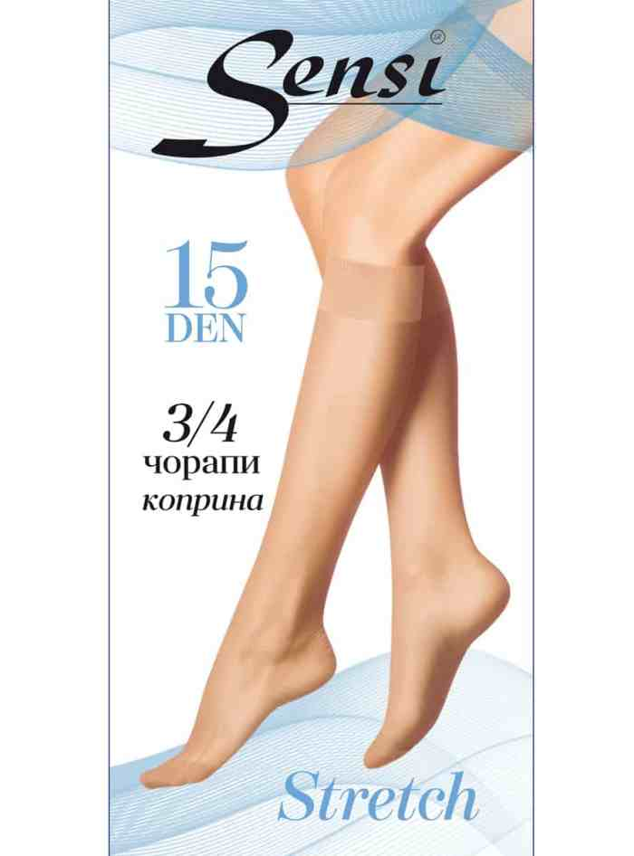 3/4 чорапи Sensi Stretch 15Den