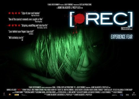 A Poster Showing A Girl With A Green Glow And The Text 'Rec'