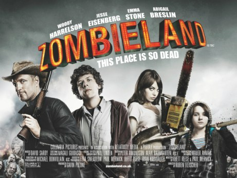 A Movie Poster For Zombieland