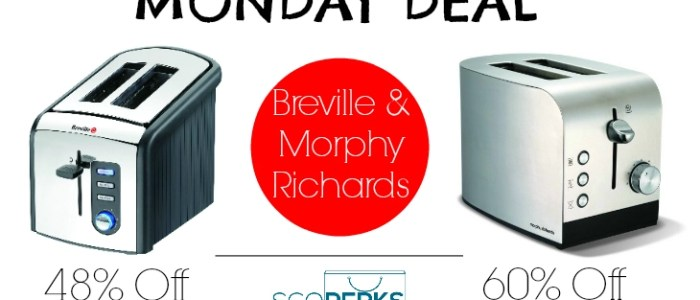 MONDAY DEAL: Breville & Morphy Richard Toasters