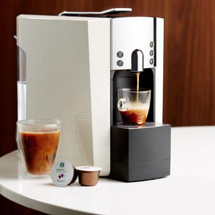 Starbucks Verisimo 600 Coffee Machine Making An Espresso
