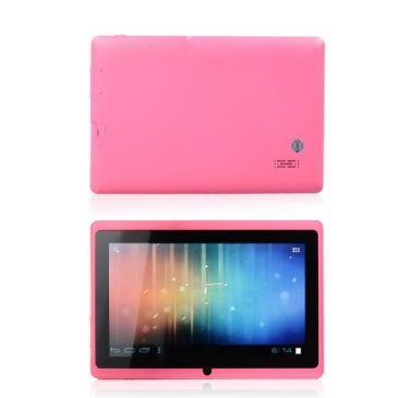 A Picture Of The Pink Allwinner A13 Tablet For Children