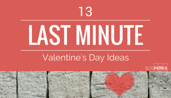 A Brick Wall With A Heart On And The Text '13 LAST MINUTE Valentine's Day Ideas'