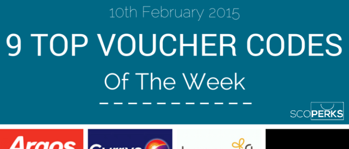 9 Top Voucher Codes Of The Week (10th Feb 2015)