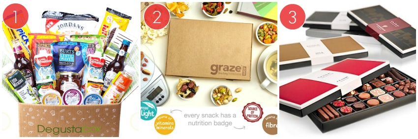 The Degustabox, The Graze Box And The Hotel Chocolat Tasting Club Boxes
