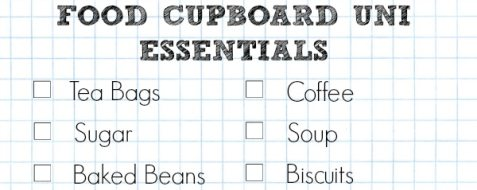 A Cropped Checklist Of Food Cupboard University