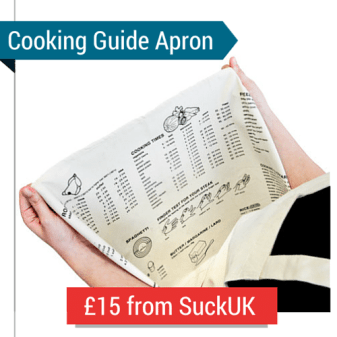 An Apron With A Cooking Guide On It