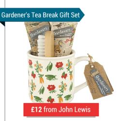 A Gardener's Mug, Hand Cream, Hand Moisturiser And Scrubbing Brush