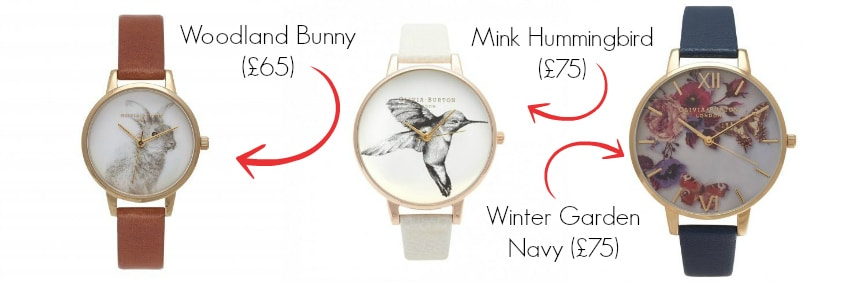Three Different Watches From Olivia Burton For Mother's Day