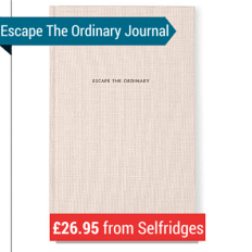 A Notebook With 'Escape The Ordinary' From Selfridges