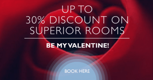 A Promotional Picture For Radisson Blu Hotels Valentines Day Deals