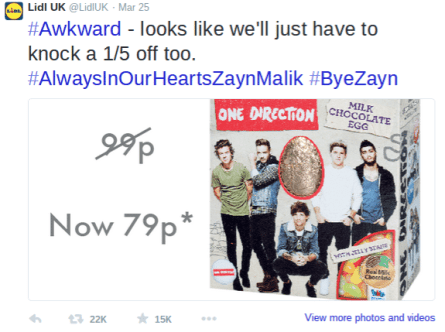 One Direction Easter Egg Offer From Lidl