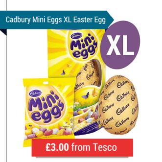 Cadbury Mini Eggs Large Easter Egg Deal From Tesco