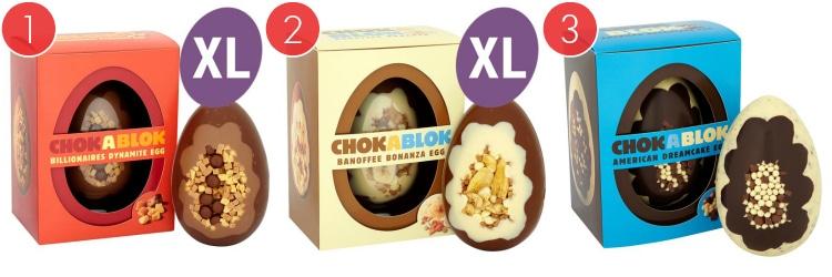 Three Types Of ChokaBlok Tesco Easter Eggs