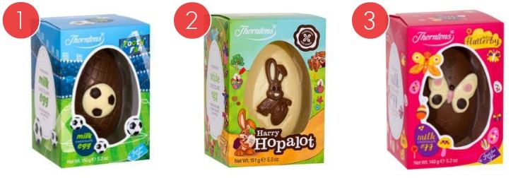 3 Of Thorntons Easter Eggs