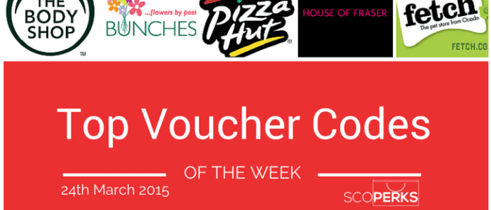 Top Voucher Codes Of The Week (24th March 2015)