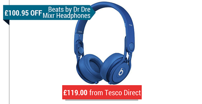 Beats By Dre Mixr Headphones from Tesco Direct