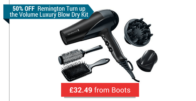 A Remington Hairdryer, Hairbrushes and Blow Dry Set