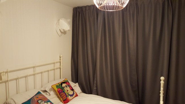 Ikea Marjun Block Out Curtains, Jonas Wire Copper Pendant from B&Q