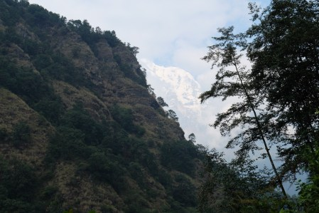 A very brief view of a proper mountain before the clouds and rain set in