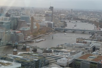 View west towards London Eye and Westminster